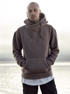 TB 1401 Sherpa High Neck Taupe