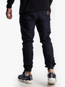 Shield Leather Jogger Dark Blue