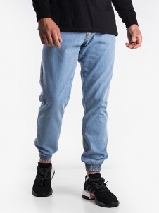 Leather Shield Jogger Light Blue