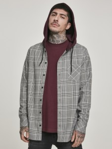 TB 3134 Hooded Glencheck White/Wine