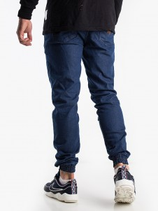 Shield Leather Jogger Mid Blue