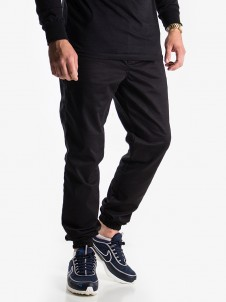 Shield Leather Jogger Black