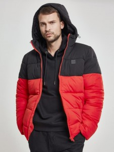 TB 2425 Hoded 2-Tone Puffer Red/Black