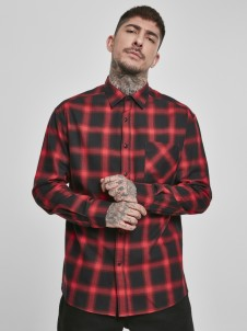 TB 3482 Oversized Checked Black/Red