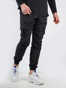 Jogger Cargo Label Ripstop Black