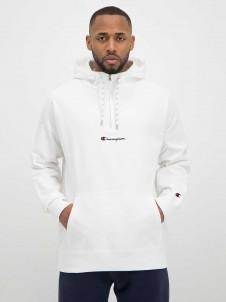 Half Zip Logo White
