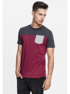 3-Tone Pocket Burgundy/Charcoal/Grey