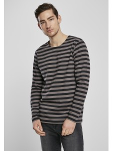 Regular Stripe LS Asphalt/Black