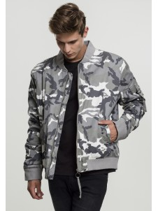 Vintage Cotton Bomber Snow Camo