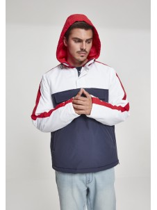3-Tone Padded Pull Over Navy/White/Red
