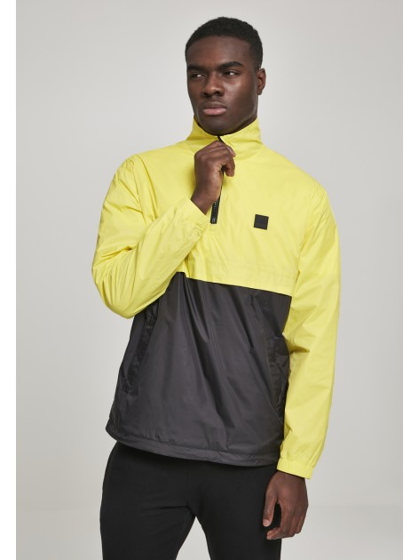 Stand Up Collar Pull Over Yellow/Black