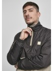 Stand Up Collar Pull Over Black/Concrete