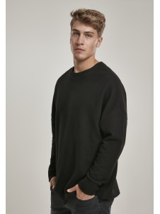 Cut On Sleeve Naps Interlock Black