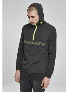 Contrast Pull Over Black/Electriclime