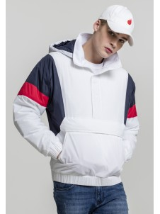 3-Tone Pull Over White/Navy/Red