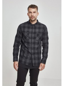 Checked Flanell Charcoal