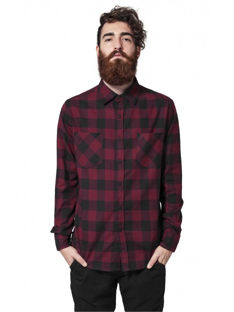 Checked Flanell Burgundy