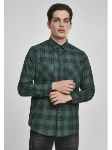 Checked Flanell Darkgreen/Black