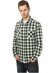 Tricolor Checked Light Flanell Black/White/Green