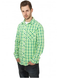 Tricolor Big Checked Green