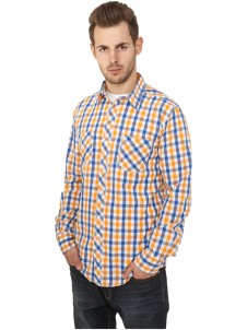 Tricolor Big Checked Blue/White/Orange