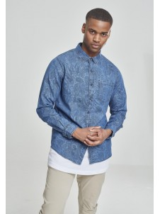Printed Paisley Medium Blue Wash