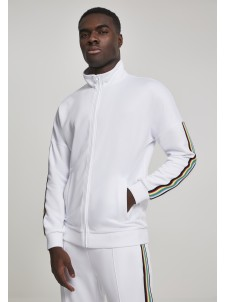 Sleeve Taped Track Jacket wht/multicolor L
