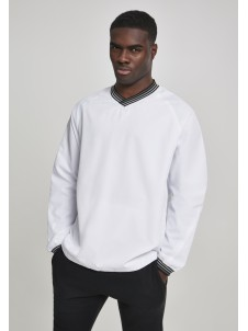 Warm Up Pull Over White/Grey