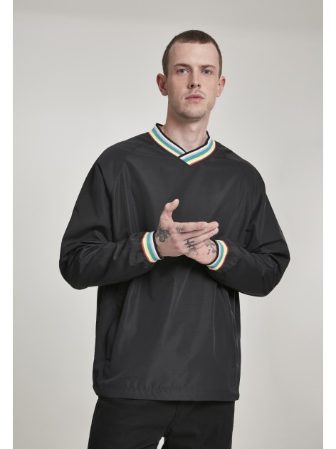 Warm Up Pull Over Black/Multicolor
