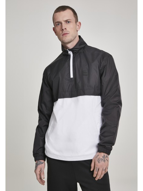 Stand Up Collar Pull Over Black/White