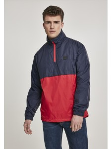 Stand Up Collar Pull Over Navy/Red