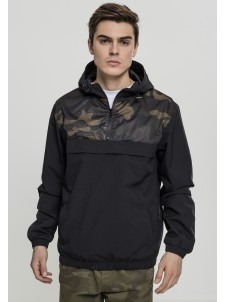 2-Tone Camo Pull Over Blk/Woodcamo