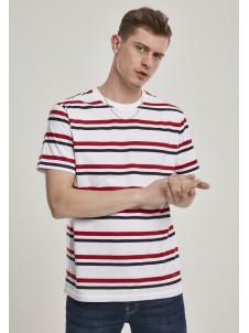Yarn Dyed Skate Stripe White/Red/Navy