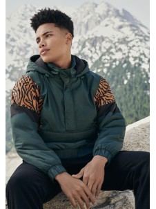 Animal Mixed Pull Over Green/Tiger