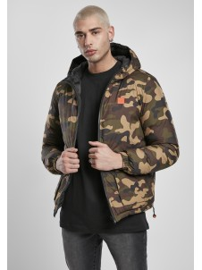 Reversible Hooded Puffer Black/Woodcamo