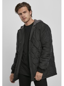 TB3704 Quilted Hooded Black