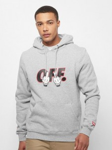 C&S WL Seriously Hoody heather grey/red L