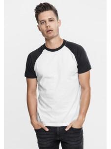 Raglan Contrast White/Black