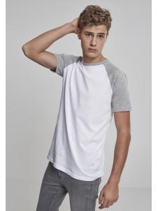 Raglan Contrast White/Grey