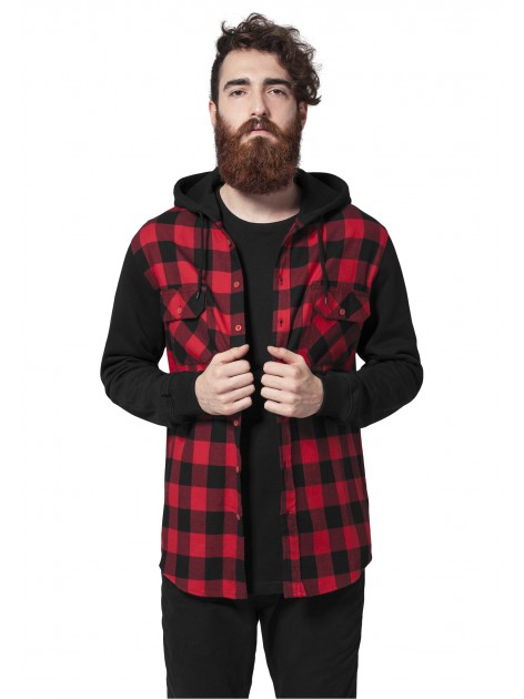 Hooded Flanell Black/Red