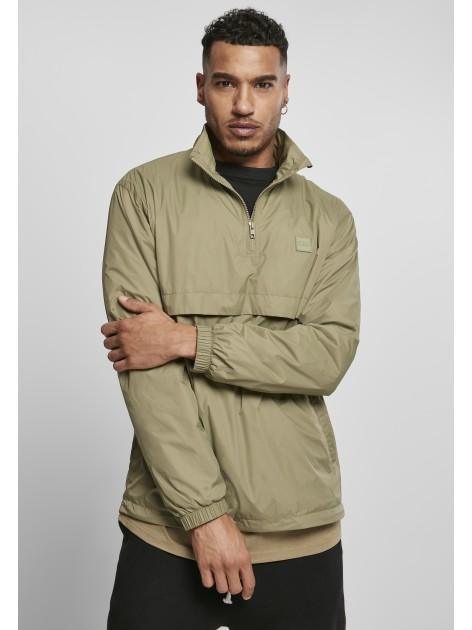 Stand Up Collar Pull Over Khaki