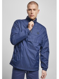 Stand Up Collar Pull Over Jacket darkblue L