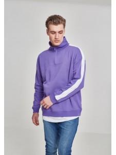 Oversize Shoulder Stripe Troyer Ultraviolet/White