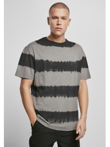 Oversized Striped Tye Dye Asphalt/Black