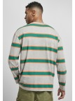 Light Stripe Oversized Grey/Junglegreen