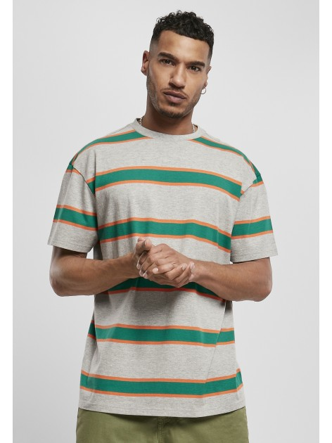Light Stripe Oversize Grey/Junglegreen