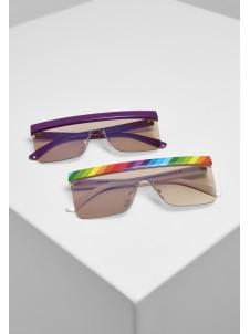 Pride Sunglasses 2-Pack Multicolor/Lilac