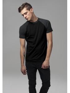 Raglan Contrast Black/Charcoal
