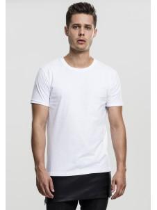 Long Zipped Leather Imitation Bottom White/Black