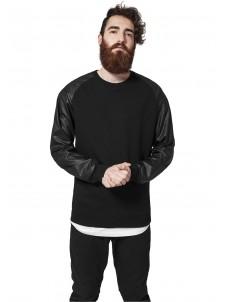 Raglan Leather Imitation Black